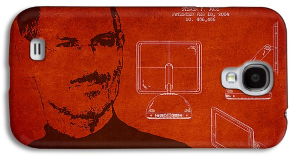 Inc Galaxy S4 Cases - Steve Jobs Imac  Patent - Red Galaxy S4 Case by Aged Pixel