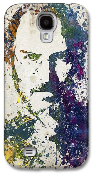Inc Galaxy S4 Cases - Steve Jobs in Color 02 Galaxy S4 Case by Aged Pixel