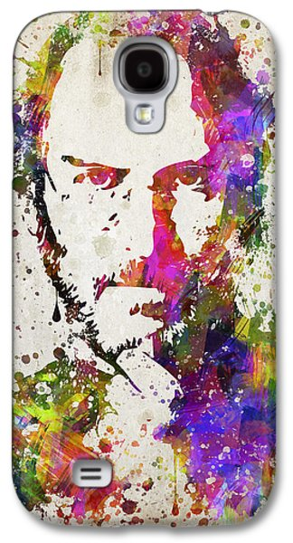 Inc Galaxy S4 Cases - Steve Jobs in Color Galaxy S4 Case by Aged Pixel