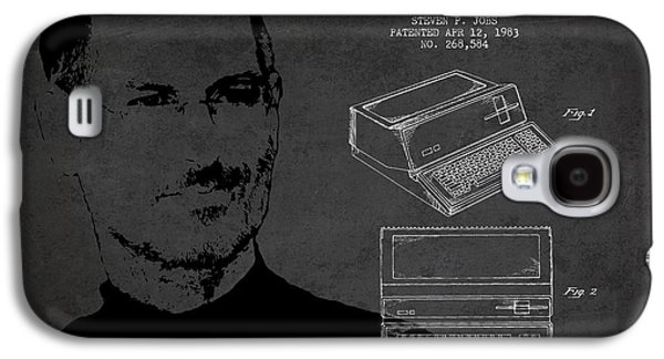Inc Galaxy S4 Cases - Steve Jobs Personal Computer Patent - Dark Galaxy S4 Case by Aged Pixel
