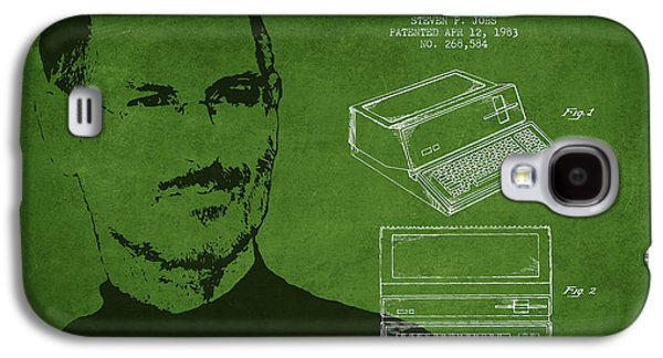 Inc Galaxy S4 Cases - Steve Jobs Personal Computer Patent - Green Galaxy S4 Case by Aged Pixel