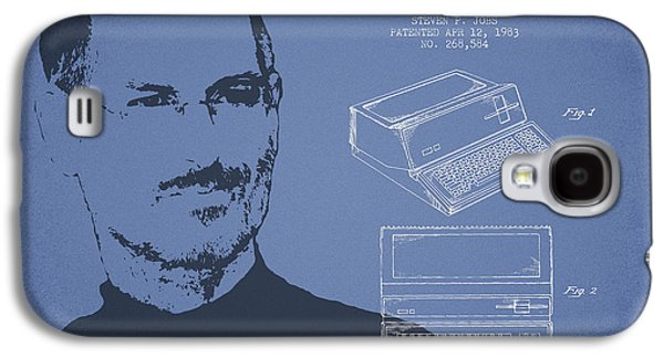 Inc Galaxy S4 Cases - Steve Jobs Personal Computer Patent - Light Blue Galaxy S4 Case by Aged Pixel