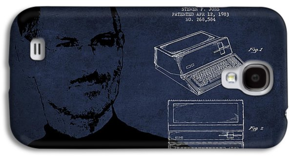 Inc Galaxy S4 Cases - Steve Jobs Personal Computer Patent - Navy Blue Galaxy S4 Case by Aged Pixel