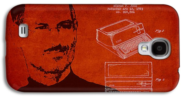 Inc Galaxy S4 Cases - Steve Jobs Personal Computer Patent - Red Galaxy S4 Case by Aged Pixel