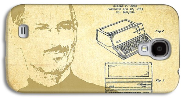 Inc Galaxy S4 Cases - Steve Jobs Personal Computer Patent - Vintage Galaxy S4 Case by Aged Pixel