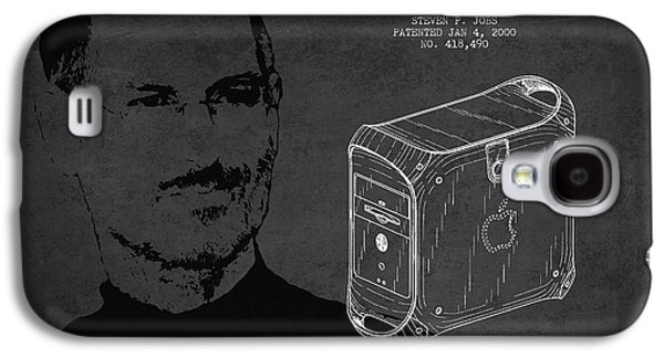 Inc Galaxy S4 Cases - Steve Jobs Power Mac Patent - Dark Galaxy S4 Case by Aged Pixel