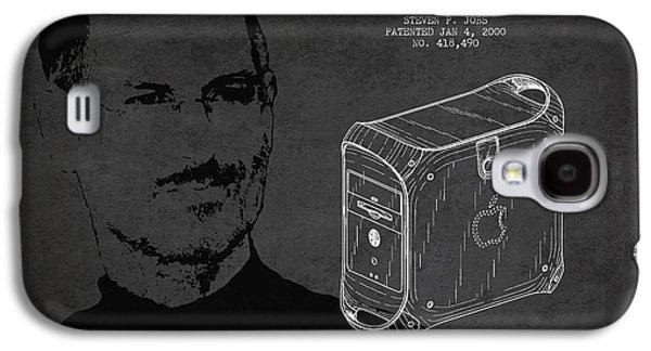 Steve Jobs Power Mac Patent - Dark Galaxy S4 Case by Aged Pixel