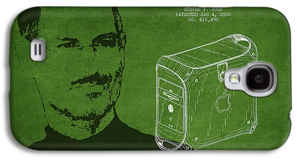 Inc Galaxy S4 Cases - Steve Jobs Power Mac Patent - Green Galaxy S4 Case by Aged Pixel