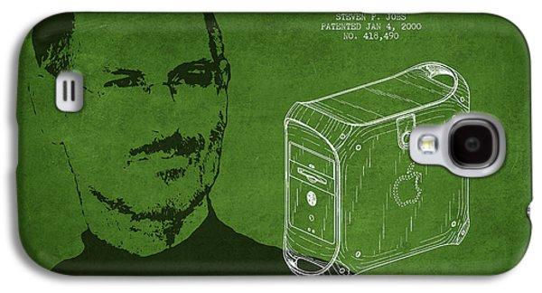 Steve Jobs Power Mac Patent - Green Galaxy S4 Case by Aged Pixel