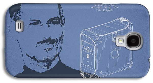 Inc Galaxy S4 Cases - Steve Jobs Power Mac Patent - Light Blue Galaxy S4 Case by Aged Pixel