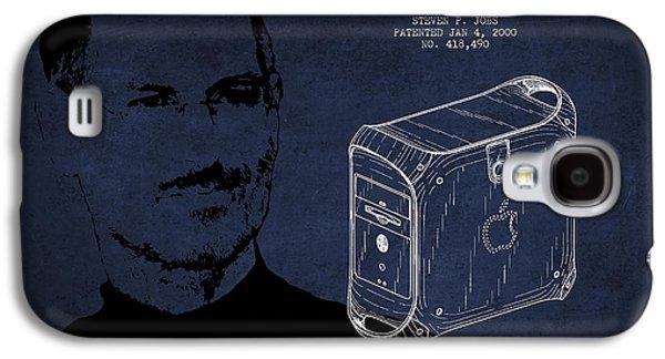Steve Jobs Power Mac Patent - Navy Blue Galaxy S4 Case by Aged Pixel