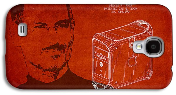 Inc Galaxy S4 Cases - Steve Jobs Power Mac Patent - Red Galaxy S4 Case by Aged Pixel