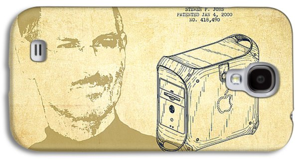 Inc Galaxy S4 Cases - Steve Jobs Power Mac Patent - Vintage Galaxy S4 Case by Aged Pixel