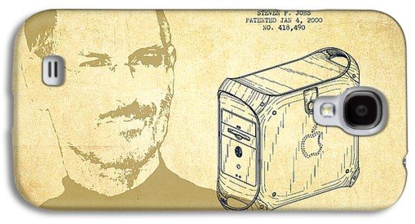 Steve Jobs Power Mac Patent - Vintage Galaxy S4 Case by Aged Pixel