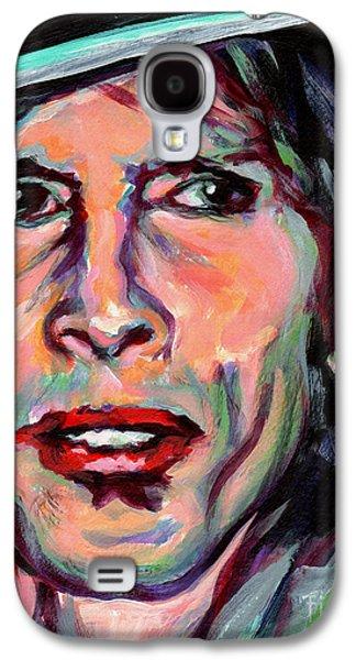 Steven Tyler Paintings Galaxy S4 Cases - Steven Tyler Galaxy S4 Case by Tanya Filichkin