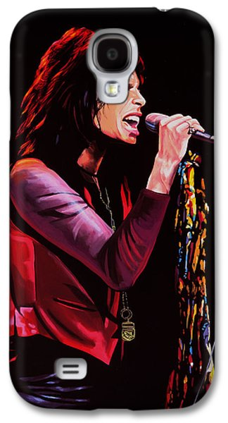 Symbol Paintings Galaxy S4 Cases - Steven Tyler in Aerosmith Galaxy S4 Case by Paul  Meijering