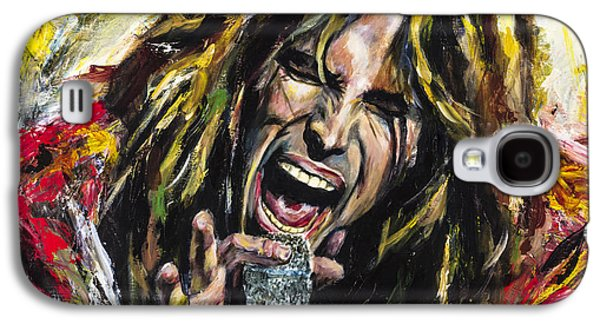 Entertainment Galaxy S4 Cases - Steven Tyler Galaxy S4 Case by Mark Courage