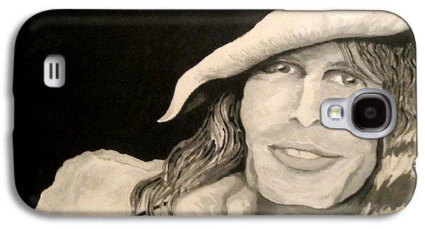 Steven Tyler Paintings Galaxy S4 Cases - Steven Tyler Portrait Galaxy S4 Case by Kathleen Allen