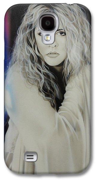 Framed Galaxy S4 Cases - Stevie Nicks Galaxy S4 Case by Christian Chapman Art