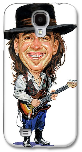 Paintings Galaxy S4 Cases - Stevie Ray Vaughan Galaxy S4 Case by Art