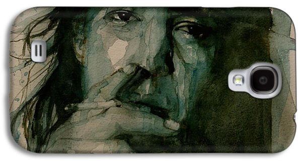 Songwriter Paintings Galaxy S4 Cases - Stevie Ray Vaughan Galaxy S4 Case by Paul Lovering