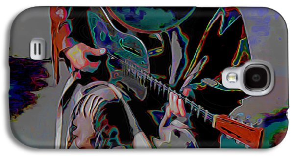 Print On Canvas Galaxy S4 Cases - Stevie Ray Vaughan SRV Galaxy S4 Case by  Fli Art