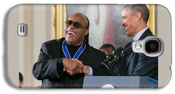 Barack Obama Galaxy S4 Cases - Stevie Wonder - Medal of Freedom Galaxy S4 Case by Ava Reaves