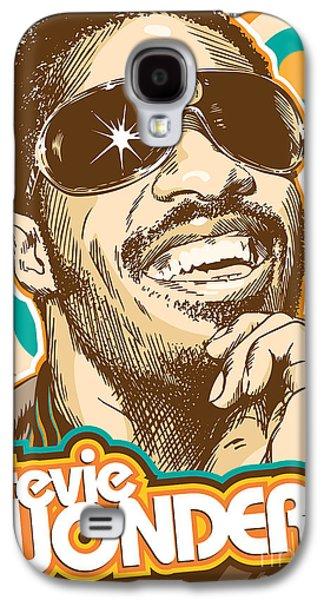 Rhythm And Blues Galaxy S4 Cases - Stevie Wonder Pop Art Galaxy S4 Case by Jim Zahniser