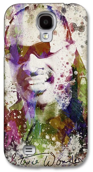 Autographed Galaxy S4 Cases - Stevie Wonder Portrait Galaxy S4 Case by Aged Pixel