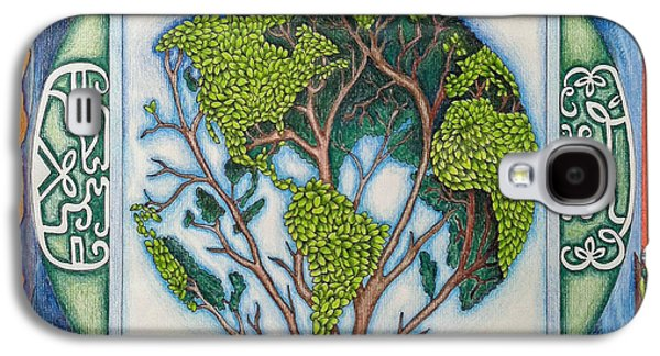 Nature Drawings Galaxy S4 Cases - Stewardship of the Earth Galaxy S4 Case by Arla Patch