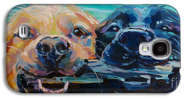 Dog Retrieving Galaxy S4 Cases - Stick It Galaxy S4 Case by Kimberly Santini