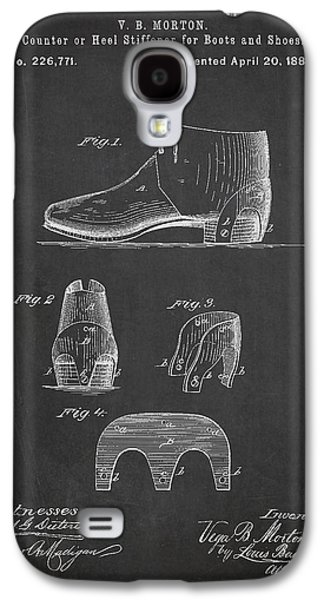 Shoe Digital Art Galaxy S4 Cases - Stiffner for Boots and shoes Patent Drawing From 1880 Galaxy S4 Case by Aged Pixel