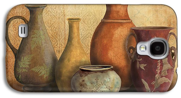 Pottery Paintings Galaxy S4 Cases - Still Life-C Galaxy S4 Case by Jean Plout