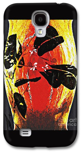Abstract Digital Galaxy S4 Cases - Still Life Outside the Vase Galaxy S4 Case by Sarah Loft