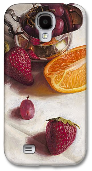 Orange Galaxy S4 Cases - Still LIfe Reflections Galaxy S4 Case by Ron Crabb
