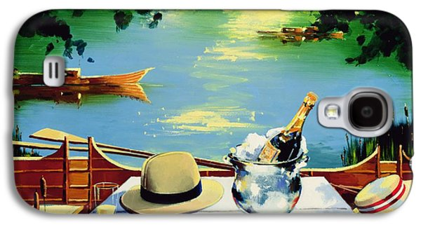 Champagne Paintings Galaxy S4 Cases - Still Life Regatta Galaxy S4 Case by Andrew Hewkin