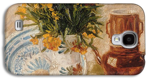 Vase Of Flowers Galaxy S4 Cases - Still Life Galaxy S4 Case by Vincent van Gogh