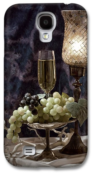 Still Life Wine With Grapes Galaxy S4 Case by Tom Mc Nemar