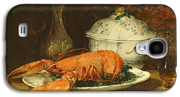 Pottery Paintings Galaxy S4 Cases - Still Life with a Lobster and a Soup Tureen Galaxy S4 Case by Guillaume Romain Fouace