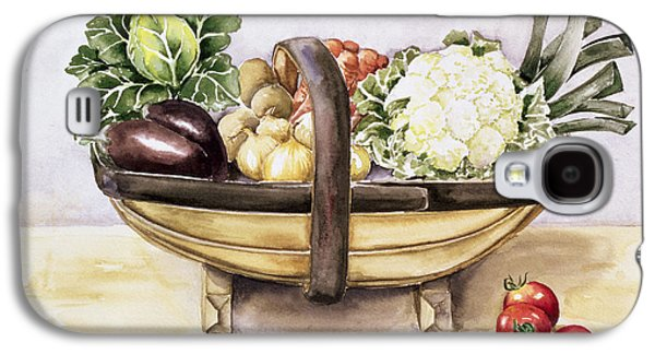 Still Life With A Trug Of Vegetables Galaxy S4 Case by Alison Cooper