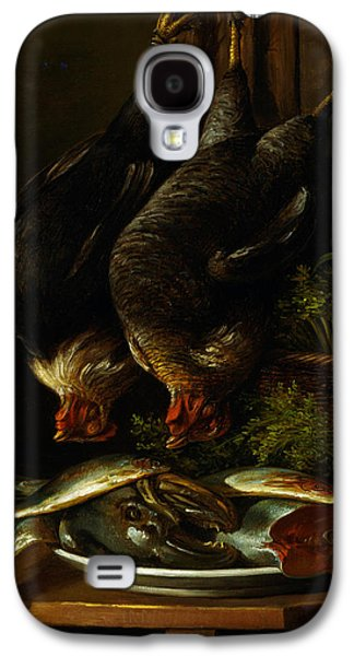 Still Life With Fish Galaxy S4 Cases - Still Life with Chickens and Fish Galaxy S4 Case by Celestial Images
