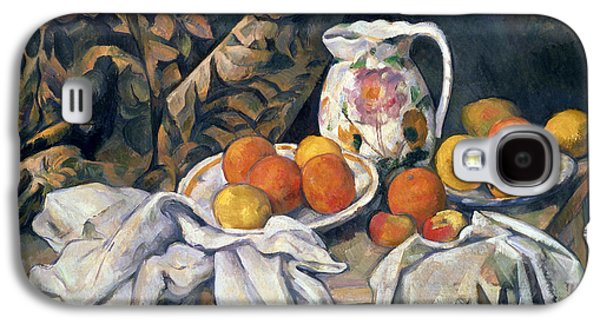 Pottery Paintings Galaxy S4 Cases - Still life with drapery Galaxy S4 Case by Paul Cezanne