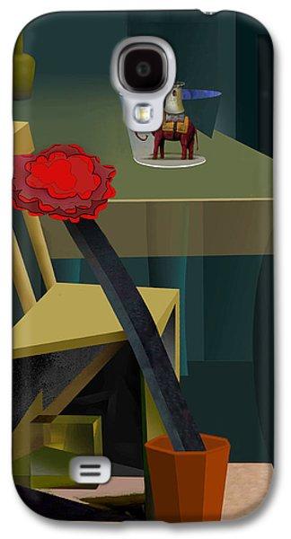 Interior Still Life Drawings Galaxy S4 Cases - Still Life with Elephant Galaxy S4 Case by Guy Ciarcia
