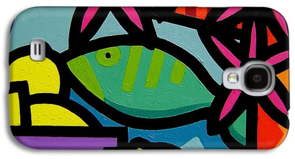 Wine Canvas Paintings Galaxy S4 Cases - Still Life With fish Galaxy S4 Case by John  Nolan
