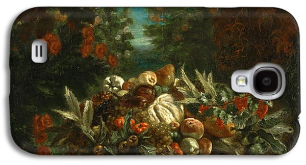 Delacroix Galaxy S4 Cases - Still Life with Flowers and Fruit Galaxy S4 Case by Eugene Delacroix