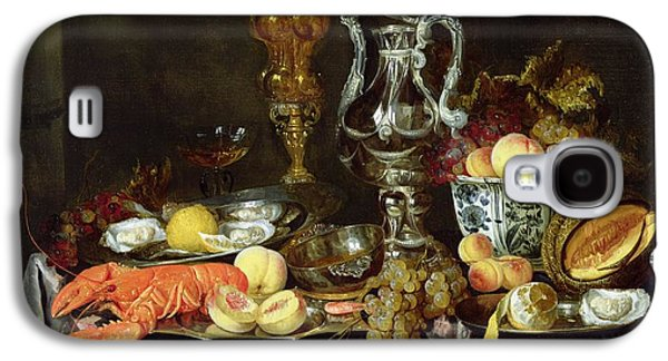 Vine Leaves Galaxy S4 Cases - Still Life With Fruit And Shellfish Oil On Canvas Galaxy S4 Case by Abraham Hendricksz van Beyeren