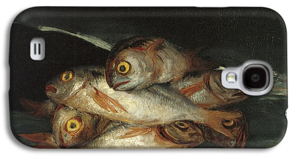 Still Life With Fish Galaxy S4 Cases - Still Life with Golden Bream Galaxy S4 Case by Francisco De Goya