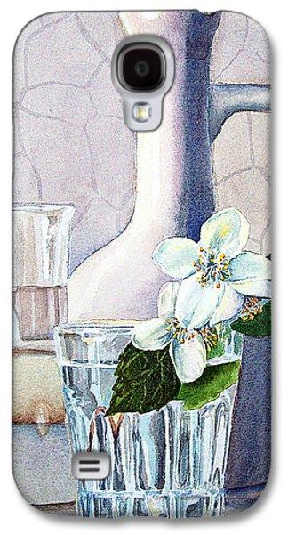 Galaxy Paintings Galaxy S4 Cases - Still Life With Jasmine Galaxy S4 Case by Irina Sztukowski