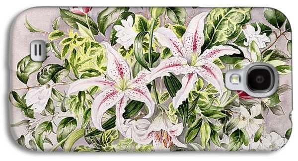 Flora Drawings Galaxy S4 Cases - Still life with Lilies Galaxy S4 Case by Alison Cooper