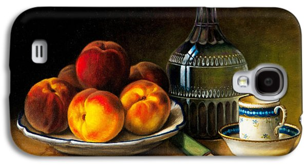 Old Pitcher Paintings Galaxy S4 Cases - Still Life With Peaches Galaxy S4 Case by Bernadette Harrison